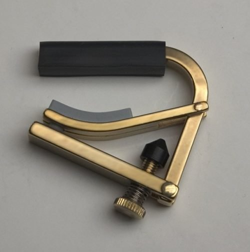 black and brass Shubb C5b banjo capo