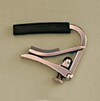 black and brass Shubb S1 deluxe 6-string guitar capo